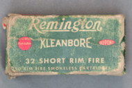 32 Short Rim Fire Remington Kleanbore Ammo, Top
