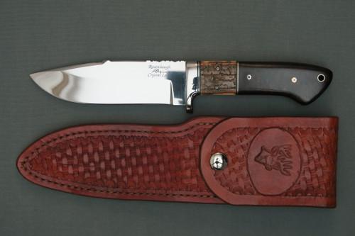 Ron Rosenbaugh Mammoth Ivory Hunting Knife, Left Side