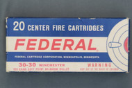 Federal 30-30 Winchester Cartridges With Hi-Shok Bullets, Top