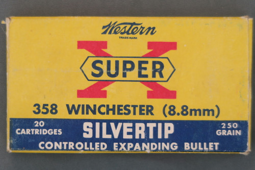 358 Winchester 250Grain Silvertip Ammo By Western, Top