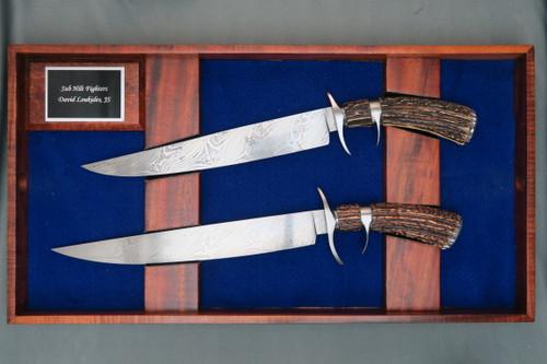 David Loukides Sub Hilt Fighter Set in Wood Case