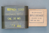Cal .3 M3 Grenade Rifle Cartridges In Box And Can