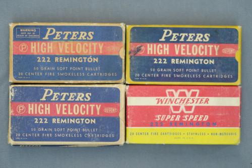 222 Remington Ammo, 4 Boxes