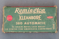 Remington Kleanbore 380 Automatic Cartridges, Top