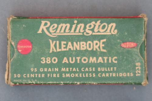 Remington Kleanbore 380 Automatic Cartridges, Top