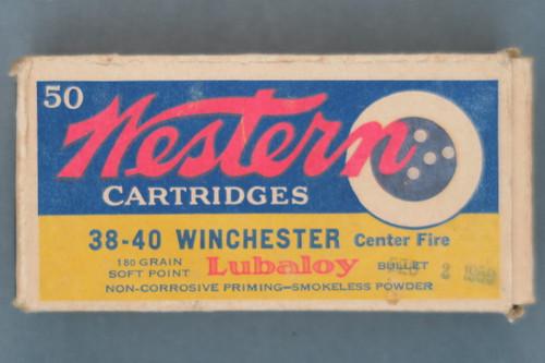 Western 38-40 Winchester Center Fire Cartridges, Top