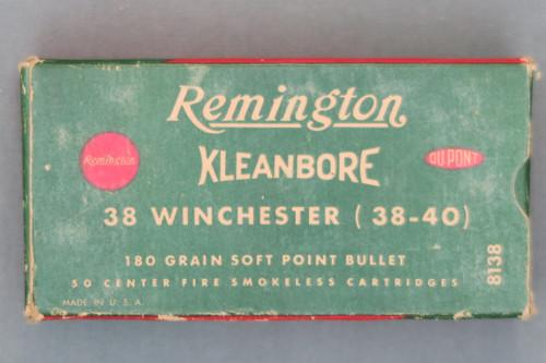 Remington Kleanbore 38 Winchester (38-40) Cartridges, Top