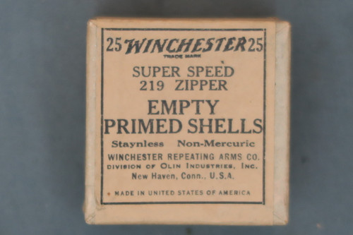 25 Winchester Super Speed 219 Zipper Empty Primed Shells