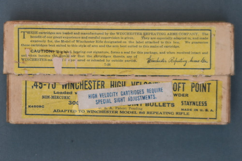 Winchester 45-70 High Velocity Soft Point Box, Front