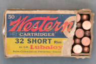 Western 32 Short Rim Fire Cartridges