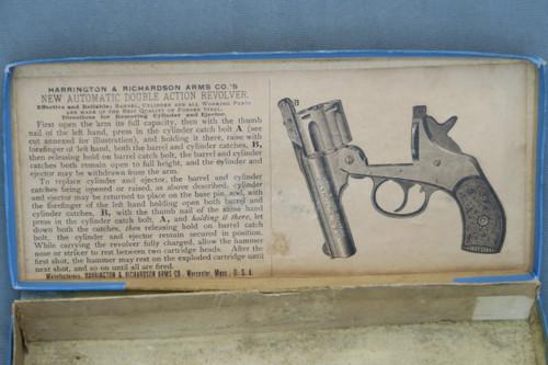 Harrington & Richardson New Automatic Double Action Revolver Box, Inside Lid
