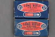 22 NRA Long Rifle Lesmoke US Cartridge Company Ammo, 2 Boxes, Tops