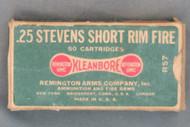 25 Stevens Short Rim Fire Cartridges, Top