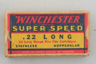 Winchester 22 Long Super Speed 1939 Issue Ammo Top