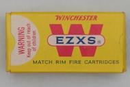 Winchester EZXS 22 Long Rifle Low Velocity Match Rim Fire Cartridges Top