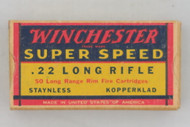 Winchester Super Speed 22 Long Rifle 1939 Issue Ammo