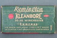 Remington Kleanbore 30-30 Winchester Express 170 Grain Cartridges Top