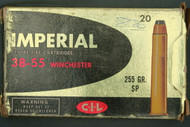 Imperial 38-55 Winchester 255 Grain Soft Point Cartridges English Top