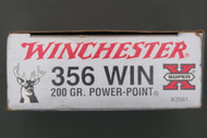 356 Winchester 200 Grain Power Point Ammunition Right End