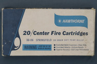 Hawthorne 30-06 Center Fire Cartridges Top