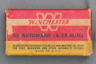 Winchester 25 Automatic (6.35 m/m) Cartridges Top