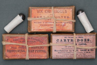 .44 Caliber Combustible Paper Revolver Cartridges in Packets