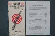 Fecker Precision Telescopic Sights 1946 Catalog Cover & Price List