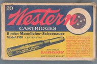 Western 8m/m Mannlicher-Schoenauer Model 1908 Soft Point Cartridges Top
