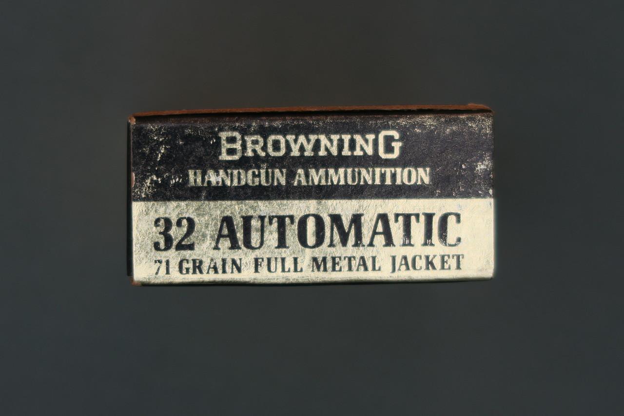 Browning 32 Automatic Centerfire Handgun Ammunition