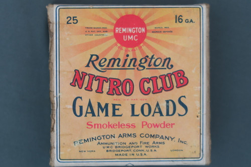 Remington Nitro Club Long Range 16 Ga. Duck Load Top Label