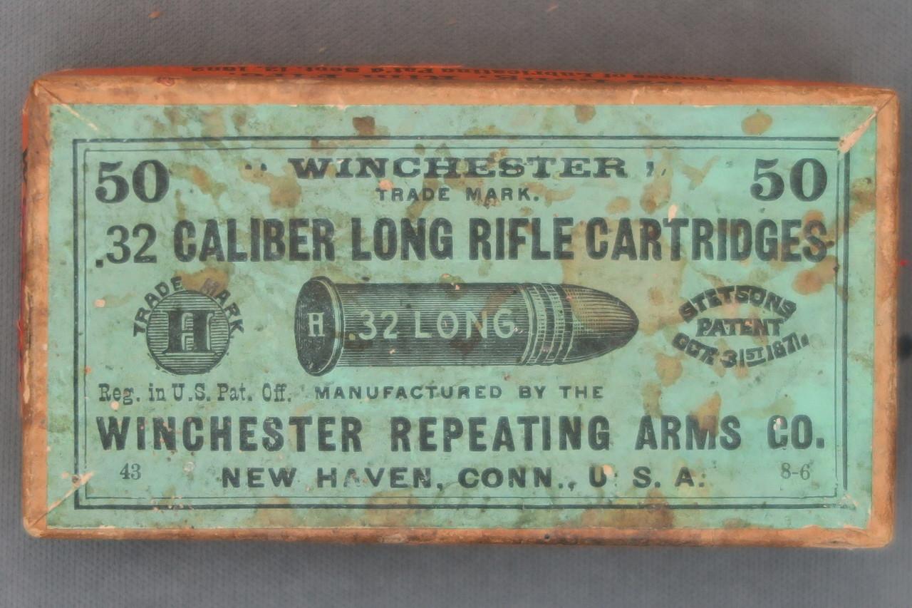 Winchester 32 Caliber Long Rifle Cartridges