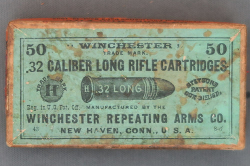 Winchester 32 Caliber Long Rifle Cartridges Top