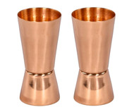 Set of 2 Copper Jiggers/Shot Glasses