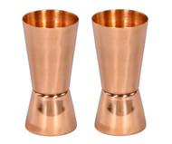 Set of 2 Copper Jiggers/Shot Glasses