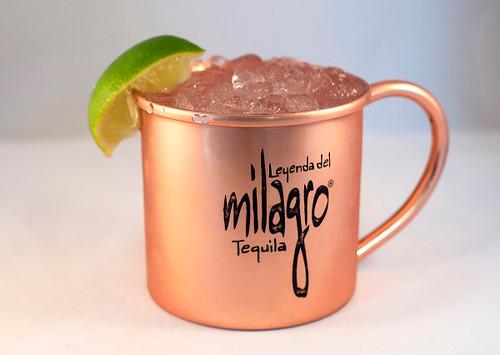 milagro logo moscow mule copper mug