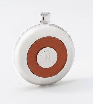 Leather Oxford Flask with Shot Glass