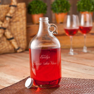 Personalized Wine Jug with Set of 2 Wine glasses