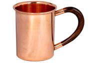 12 oz Copper Mug With Wood Handle