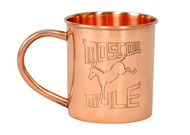 etched engraved copper moscow mule mug