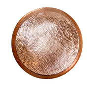 Hammered Copper Circular Tray