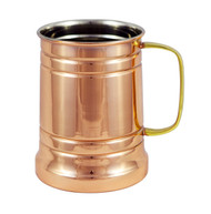 Stainless Steel Copper Plated Beer Stein 20 oz