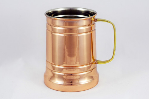20 oz Stainless Steel Copper Plated Beer Stein