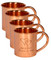 Set of 4 Engraved Copper Mugs