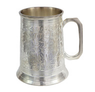 20 ounce antique silver beer stein