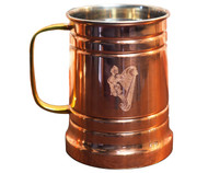 Engraved Copper Beer Stein