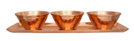 Hammered Copper Bowls with Tray