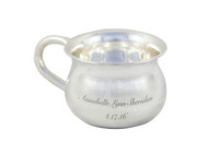 Engraved SIlver Baby Cup - 8 oz