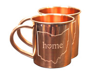 Ohio Home Copper Mugs - Set of 2 14 oz Mugs