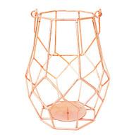 "8"" Copper Wire Votive Candle Holder Lantern"