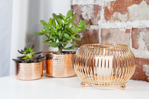 Copper Wire Votive
